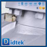 Didtek 주철강 포이는 충분히 벌레 기어를 가진 연약한 밀봉 공 벨브를 지루하게 한다
