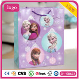 La navidad Elsa y Anna bolsa de papel, bolsa de papel de regalo rosa