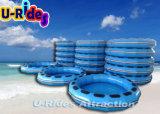 Balsa redonda azul inflable para el parque de atracciones