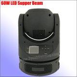 최고 소형 60W LED 광속 이동하는 맨 위 단계 빛