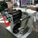320 mm de etiqueta adhesiva de papel de la línea de corte máquina rebobinadora cortadora longitudinal