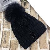 Зимы осени женщин кабель POM POM Unisex теплый связанный Twisted покрывает шлем заплетенный Beanie (HW123)