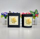 Sojabohnenöl-Wachs kundenspezifische Glasglas-Kerze mit Duft