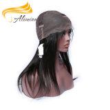 Парик шнурка человеческих волос Remy индейца Alimina 100% полный