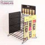 Metal supermercado bocadillos Mostrar estante con gráficos EPVC