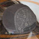 Parrucca superiore di seta dei capelli brasiliani neri di colore (PPG-l-01471)