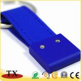 Charmant et personnalisé en cuir de forme de chaîne de clé en métal