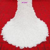 El vestido de boda de la sirena de Fantacy con rebordear la blusa de Rouched riza capas
