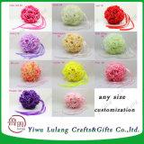 Decoraciones de bodas Champing espuma artificial Colgante bola rosa de flores
