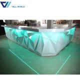 Compteur artificiel de barre de marbre du modèle 2017 le plus neuf de diamant du café extérieur solide de barre