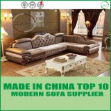 Lederne Wohnzimmer-Ausgangsmöbel-modernes Freizeit-Sofa