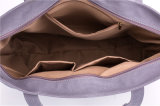Retro sacchetti di Tote delle borse delle donne della tela di canapa di colore di contrasto