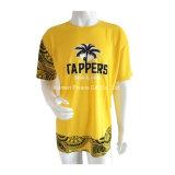 Promotion coton imprimé Tshirt à manches courtes avec col rond