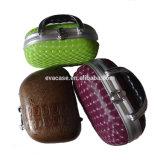 Cas d'exposition cosmétique de course de cuir d'unité centrale avec le traitement