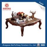 Tavolino da salotto intagliato di legno (P257)