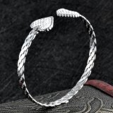 安い卸し売りステンレス鋼の簡単な中心の袖口ワイヤー腕輪