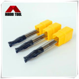 HRC 55 Carbide colo longo do raio do canto final Mills