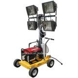 4X1000W petit tour d'éclairage mobile avec générateur diesel ou essence