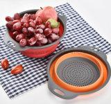 Cuisine de pliage de silicone OEM Fruits Légumes Panier de vidange