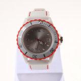 Reloj material del silicio con el reloj de la muñeca LED de los hombres de caso plástico
