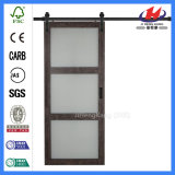 CLEAR finish solvently Wood Glass Sliding Door