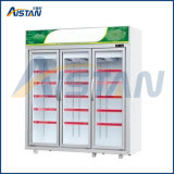 Étalage commercial vertical d'étalage de congélateur de réfrigérateur de la porte Mgd-1280 deux