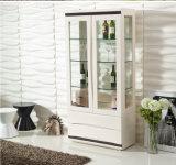 Klima-MDF und Glas Tablebathroom Schrank mit seitlichem Gebrauchsgut-Regal (CJ-147B)