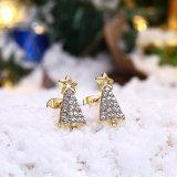Nam de Gouden Geplateerde Juwelen van de Manier van de Gift van de Oorringen van de Vrouwen van Zircon van Oorringen toe