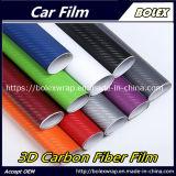 Fibra de carbono 3D Film alquiler de coche de la hoja de Vinilo adhesivo de enrollar la película