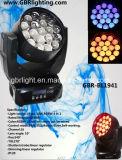 도매! 좋은 품질 19pcsx15W RGBW DMX 통제 LED 이동하는 맨 위 세척 빛 LED 광속 급상승 이동하는 헤드