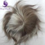 Vループした薄い皮の人のToupeeの人間の毛髪のToupee (TP20)