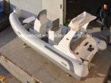Liya中国のガラス繊維のボート5.2m Hypalonの堅く膨脹可能なボート