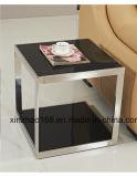 블랙 커피 테이블 스테인리스 다리