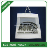 HDPE Curry Plastic Shopping Bags with String Handle, Knitting machine Tote Bags