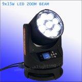 급상승 9*15W LED 이동하는 맨 위 광속 세척 빛