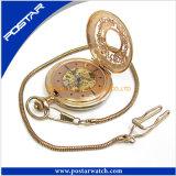 Horloge Van uitstekende kwaliteit van het Zakhorloge van het Roestvrij staal van de douane het Automatische Gouden