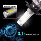 Farol barato do diodo emissor de luz do farol 6000lm H7 do diodo emissor de luz do ventilador da boa qualidade 12V 24V do preço para o carro