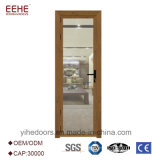 Porta de vidro de alumínio moderna do vidro da folha do dobro do projeto da porta