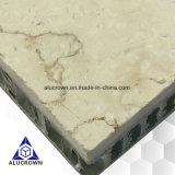 Los paneles amarillos claros del panal de la piedra del mármol del color para los paneles de suelo de Pasillo