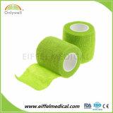 Fasciatura coesiva di auto elastico non tessuto del campione libero fatta in Cina