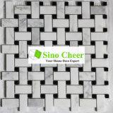 Мозаика Basketweave мраморный конструкции форменный черная белая каменная