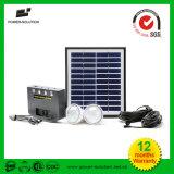 Sistema de Iluminação Doméstica solar com 2 lâmpadas carregador de telemóvel