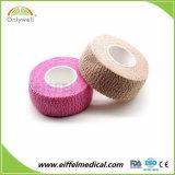 Quirúrgico impermeable adhesivo elástico coloridos Venda cohesiva de gasa