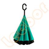 C 손잡이를 가진 겹켜 또는 닫집 반전 거꾸로 되는 차 우산