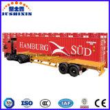 De dubbele Semi Aanhangwagen van de Vrachtwagen van de Container van het Skelet van Assen met de Sloten van de Draai