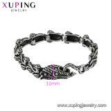 75261 de Recentste Juwelen van de Manier van het Ontwerp Xuping, de Armband van het Roestvrij staal, de Geplateerde Armband van Vrouwen met de Zwarte Kleur van het Kanon