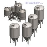 Cadena de producción de la cerveza del bajo volumen/equipo casero de la elaboración de la cerveza