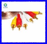 3RCA aan 3RCA Transparante Kabel