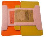 Rectángulo de empaquetado de Kraft de cartulina acanalada del regalo plegable del papel con la impresión de la insignia