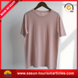 Long T-shirt d'été de femmes de chemise de collet élevé fait sur commande